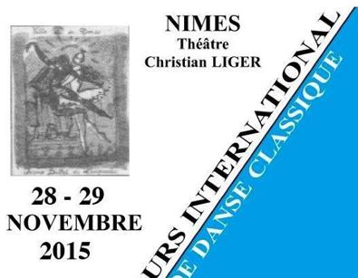 CONCOURS DE NÎMES 29 NOVEMBRE 2015 –  PALMARES