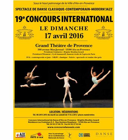 CONCOURS D'AIX EN PROVENCE –  PALMARES