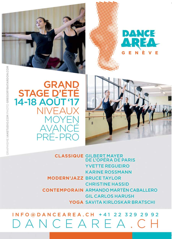 Genève  Stage de  Danse  Area
