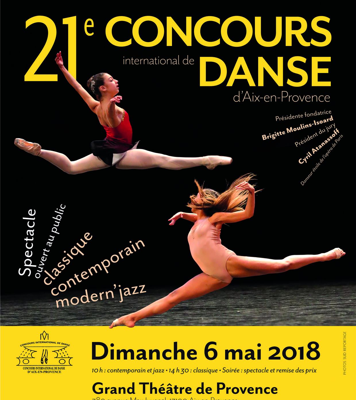 AIX EN PROVENCE – PALMARES DU CONCOURS INTERNATIONAL DE DANSE 2018
