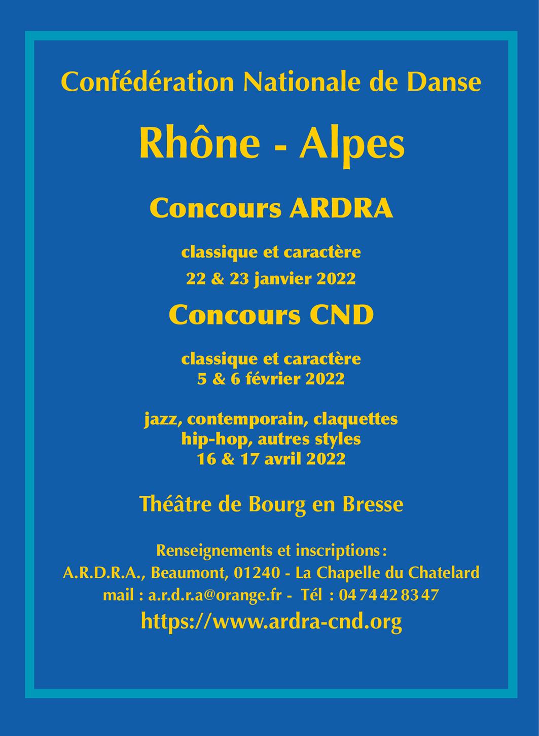 Concours 2022 CND RHÔNE-ALPES